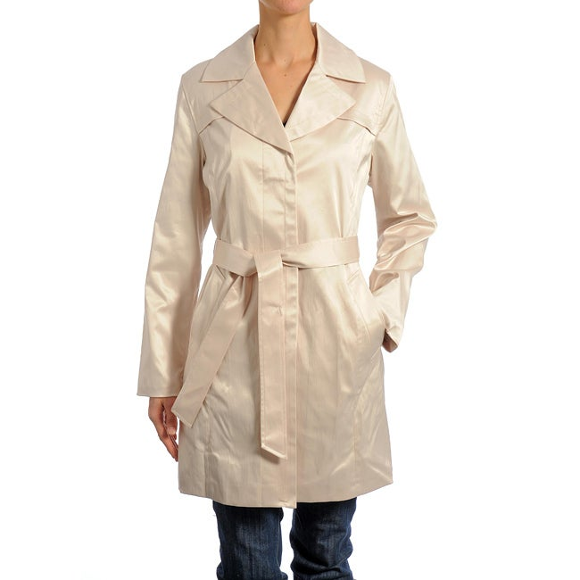 Women's Belted Short Trench Coat - Thumbnail 0