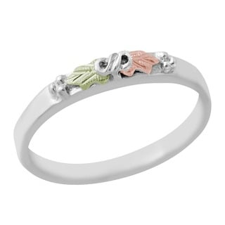 Black Hills Gold and Sterling Silver Grape Leaves Ring