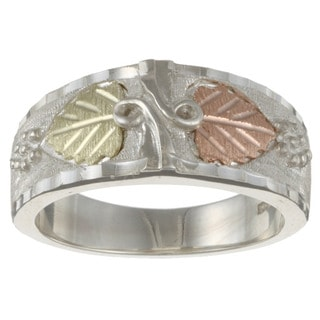 Black Hills Gold and Silver Mens Ring