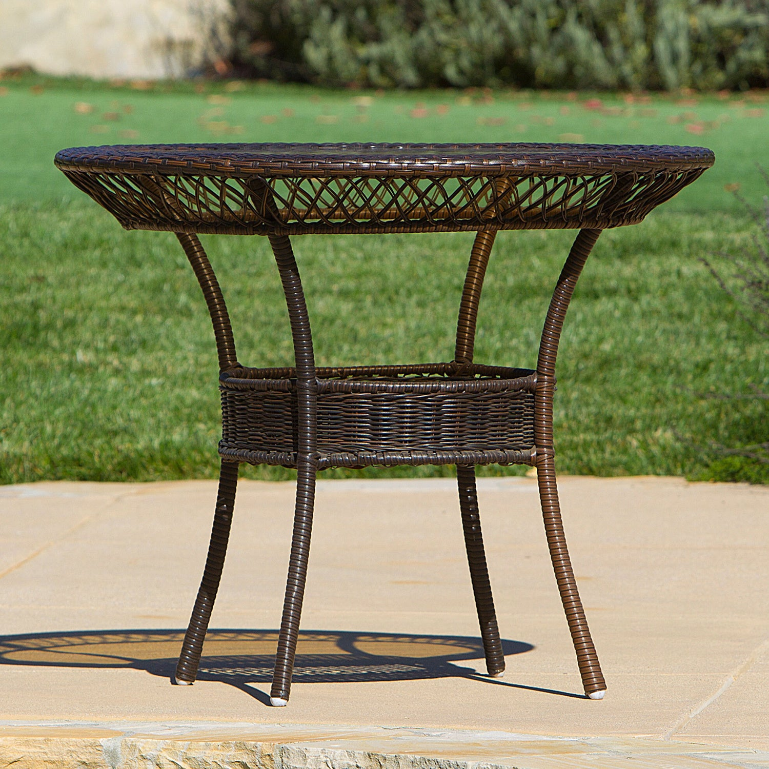 Outdoor 5 Piece Wicker Dining Bistro Table Set