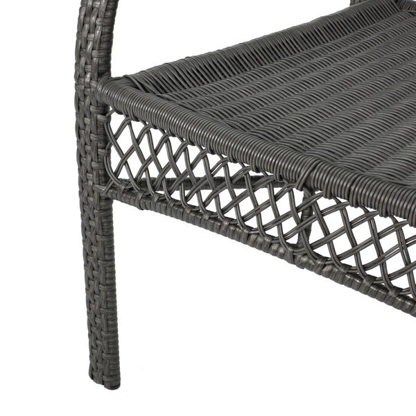 Outdoor 5 Piece Wicker Dining Bistro Table Set By Christopher Knight Home    Free Shipping Today   Overstock.com   13464465