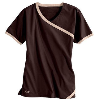 IguanaMed Women's Cross Over Wine Top