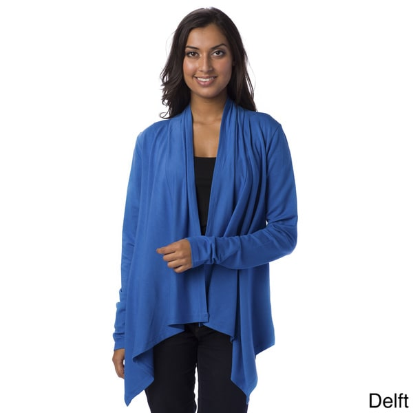 AtoZ Women's Open Front Draped Jacket