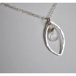 AEB Designs Silver Leaf and Moonstone Necklace