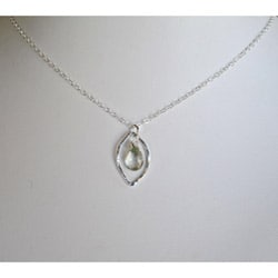 AEB Design Fine Silver Prasiolite Leaf Necklace