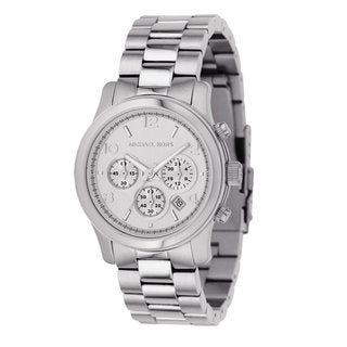 Michael Kors Women's Classic Stainless Steel Silver Chronograph Watch