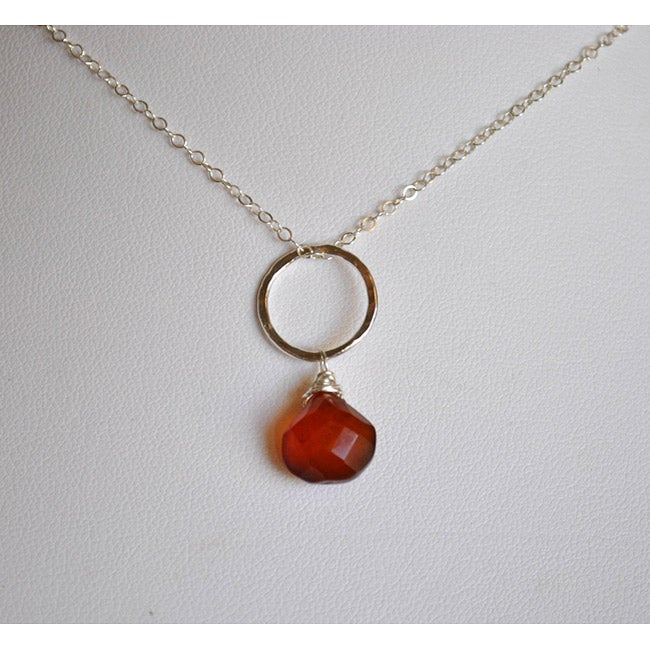 AEB Designs Silver Brown Chalcedony Necklace