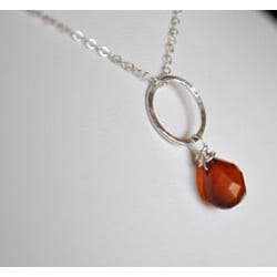 AEB Designs Silver Brown Chalcedony Necklace - Thumbnail 1