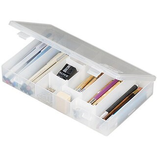 ArtBin IDS (Infinite Divider System) Compartment Box - 11 X6.75 X1.75 Translucent