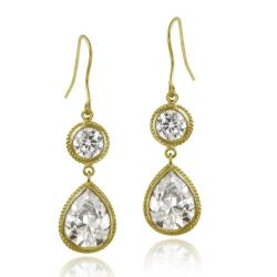 Icz Stonez 18k Gold over Sterling Silver Cubic Zirconia Dangle Earrings