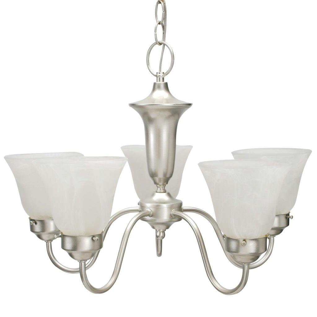 Element Silver Mist 5-light Chandelier - Thumbnail 0