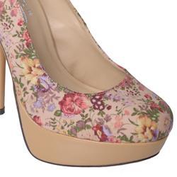 Glaze by Journee Co Women's 'Nicole-2-Tau' Floral Print Platform Pumps