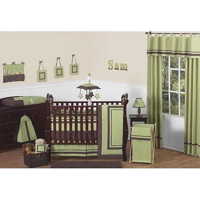 Sweet Jojo Designs Hotel Green 9-piece Crib Bedding Set