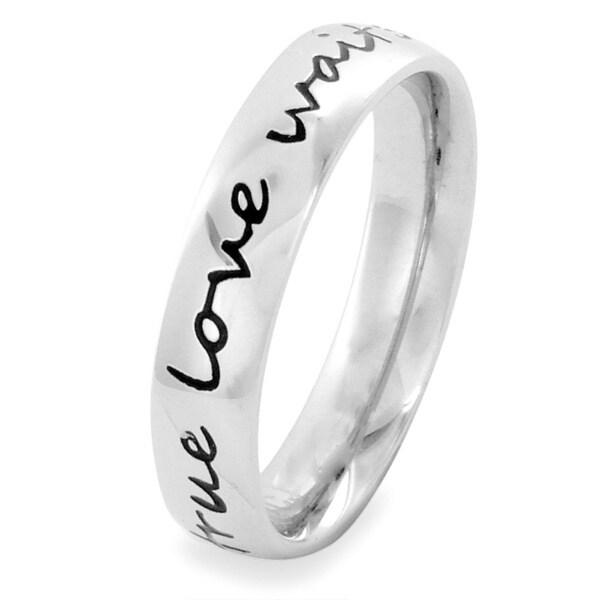 ELYA Stainless Steel 'true love waits' Ring