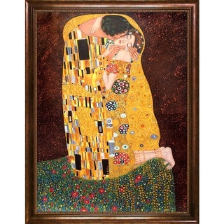 Gustav Klimt 'The Kiss (Full View)' Canvas Art