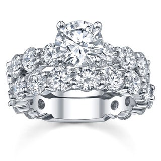 14k White Gold 4 2/5ct TDW Diamond Bridal Ring Set (More options available)