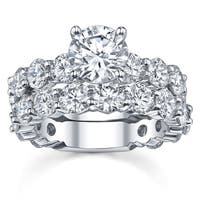 14k White Gold 4 2/5ct TDW Diamond Bridal Ring Set