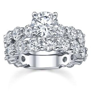 14k White Gold 4 2/5ct TDW Diamond Bridal Ring Set