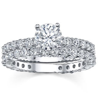 14k White Gold 2 1/3ct TDW Diamond Bridal Ring Set