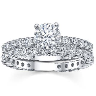 14k White Gold 2 1/3ct TDW Diamond Bridal Ring Set|https://ak1.ostkcdn.com/images/products/5735729/P13469104.jpg?impolicy=medium