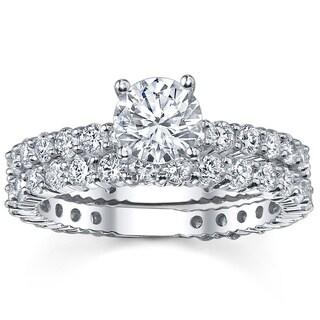 14k White Gold 2 1/3ct TDW Diamond Bridal Ring Set