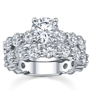 18k White Gold 4 7/8ct TDW Diamond Bridal Set