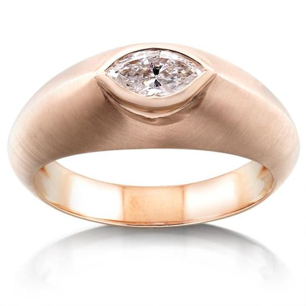 Annello by Kobelli 14k Rose Gold 1/2ct TDW Diamond Solitaire Marquise Ring (G-H, I1-I2)