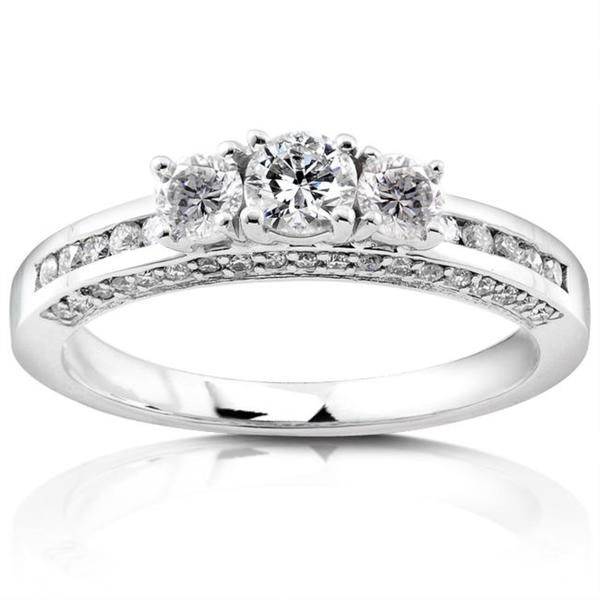 Annello by Kobelli 14k White Gold 3/4ct TDW Diamond Engagement Ring (G-H, I1-I2)