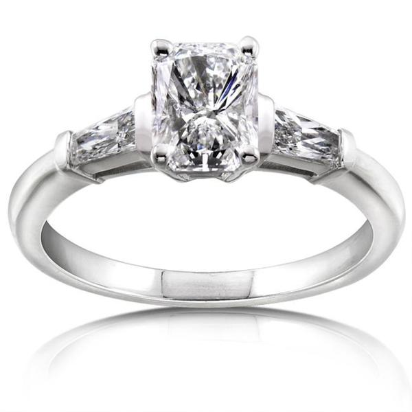 Annello by Kobelli 14k White Gold 1 1/3ct TDW Certified Diamond Engagement Ring (F, SI2)