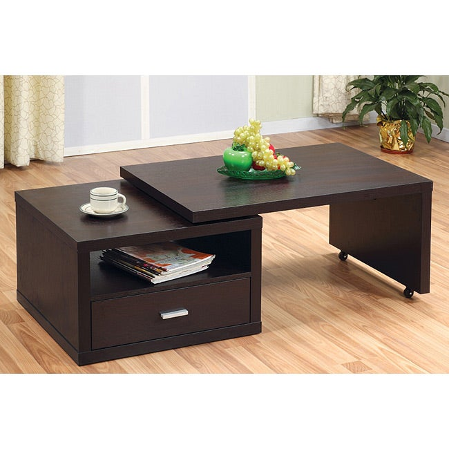 Furniture of america jillian modern extendable coffee table free shipping today overstock - Telescopic coffee table ...