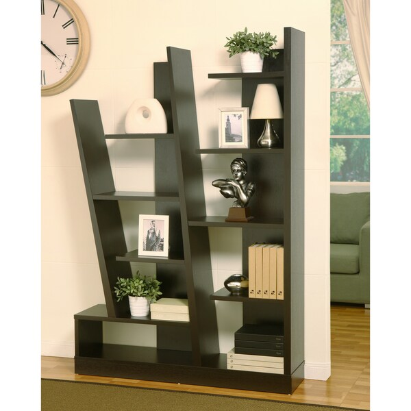 Furniture of America Majesta Red Cocoa Display Stand/Bookcase