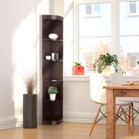 Porch & Den Bartholomew Corner 5-shelf Display Stand