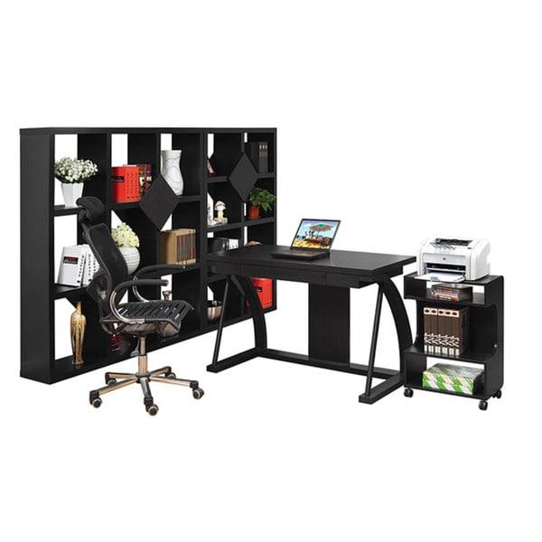 Furniture of America Midg Modern Black 48-inch Royal Desk