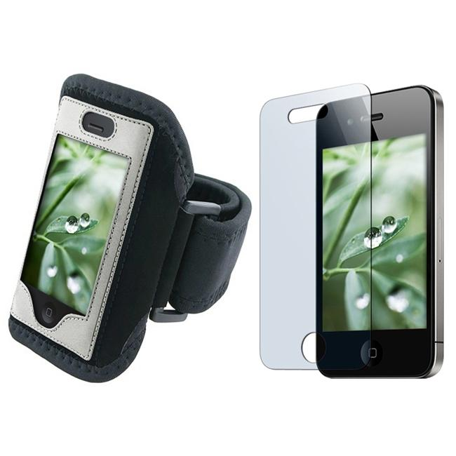Deluxe Padded Armband/Screen Protector for Apple iPhone 4
