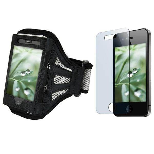 Deluxe Armband/ Screen Protector for Apple iPhone 4