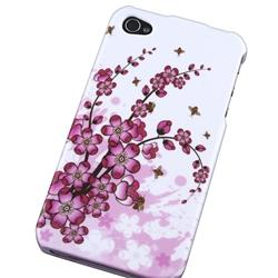 INSTEN Flower Phone Case Cover/ Screen Protector for Apple iPhone 4 - Thumbnail 1