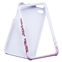 INSTEN Flower Phone Case Cover/ Screen Protector for Apple iPhone 4 - Thumbnail 2