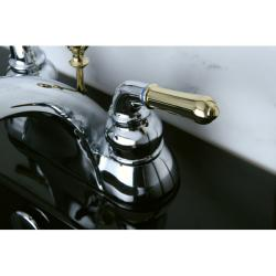 Two-tone Chrome and Brass Bathroom Faucet - Free Shipping Today ...