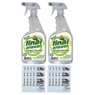 Tech Final Answer 32 oz. Carpet Cleaner with Wipes (Pack of 2)