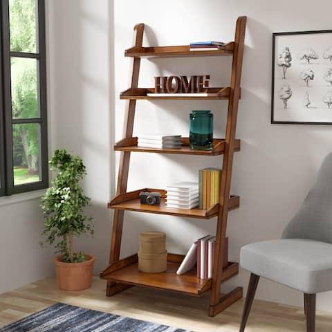 Furniture of America Ruse Vintage Oak Solid Wood Tier Display Stand