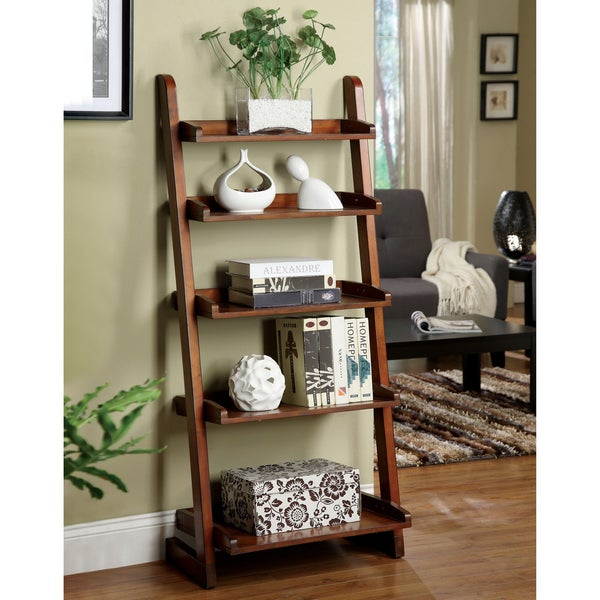 Furniture of America Adelle Vintage Oak Tier Display Stand