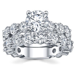 18k White Gold 6 1/8ct TDW Diamond Bridal Ring Set (G-H, SI1-SI2)