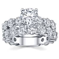 18k White Gold 6 1/8ct TDW Diamond Bridal Ring Set