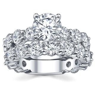 18k White Gold 6 1/8ct TDW Diamond Bridal Ring Set