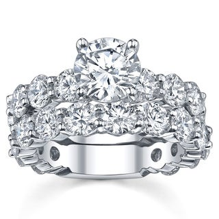14k White Gold 6 5/8ct TDW Diamond Bridal Ring Set