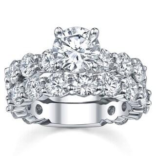 14k White Gold 6 5/8ct TDW Diamond Bridal Ring Set