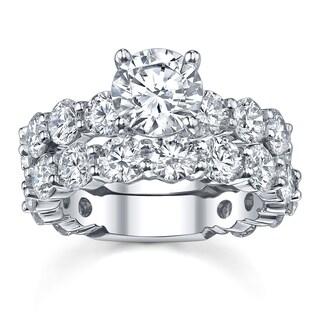 18k White Gold 7 3/4ct TDW Diamond Bridal Ring Set (More options available)