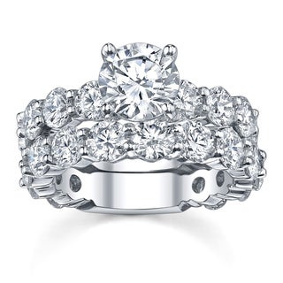 18k White Gold 7 3/4ct TDW Diamond Bridal Ring Set (More options available)
