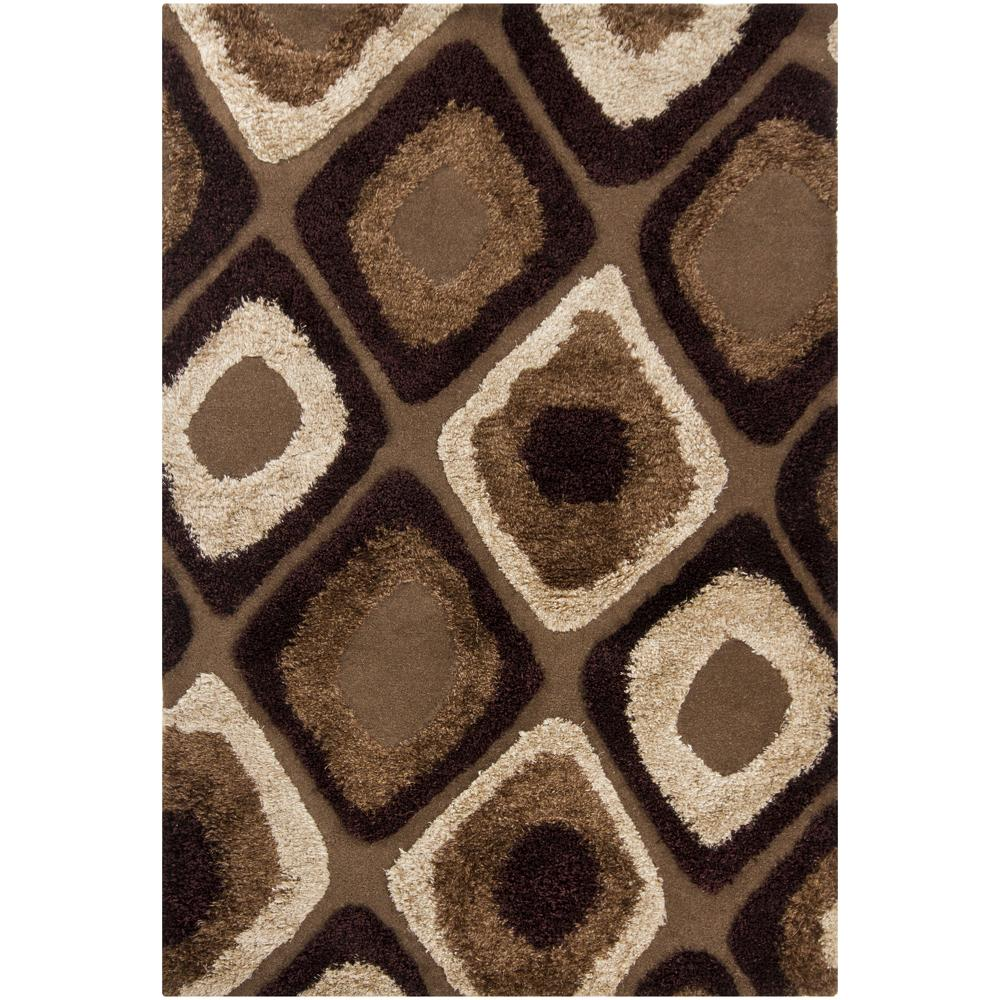 Artist's Loom Hand-tufted Contemporary Geometric Wool Rug (8'x11') - 8' x 11'