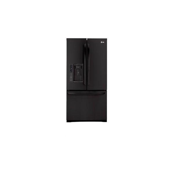LG Black 33-inch Wide 25-cu-ft 3-door Refrigerator